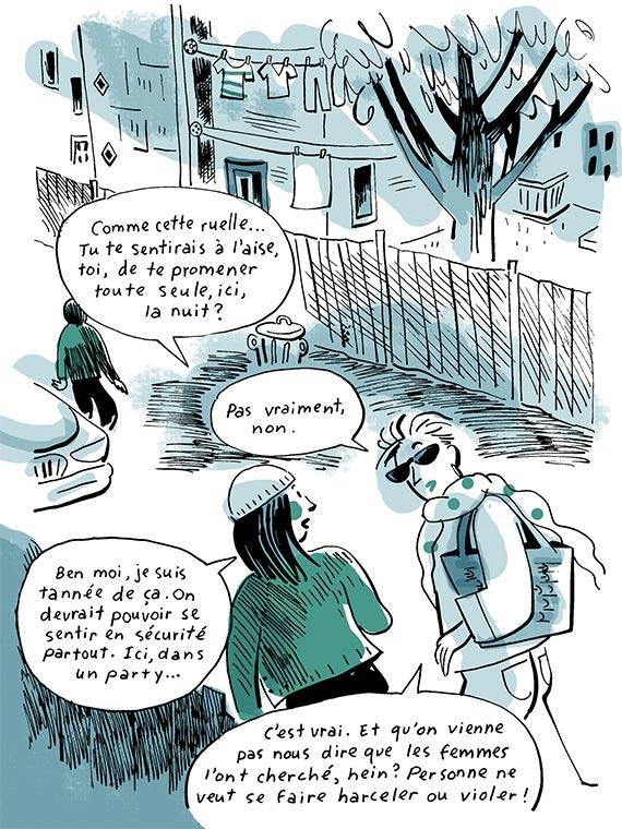 Bande dessinée les agressions sexuelles