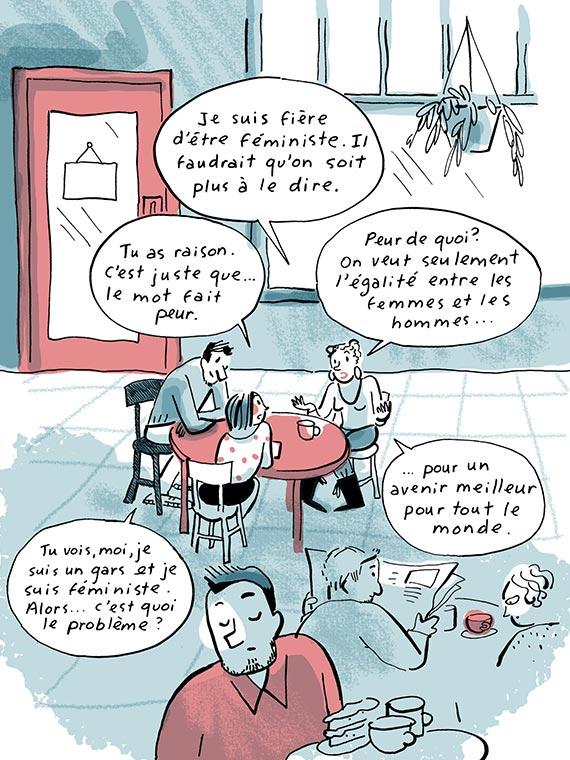 Bande dessinée Égalité des droits