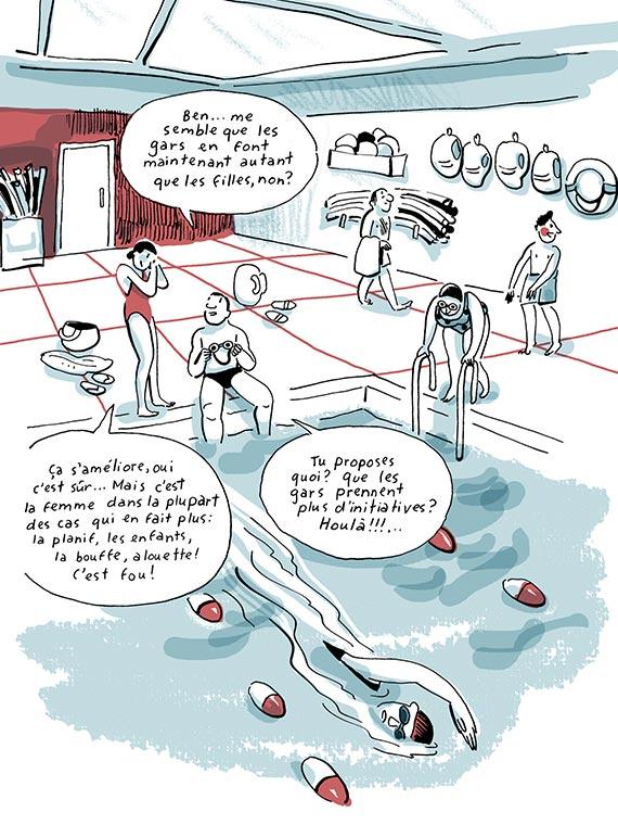 Bande dessinée Les tâches familiales