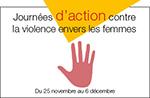 Logo des Journées action contre la violence.