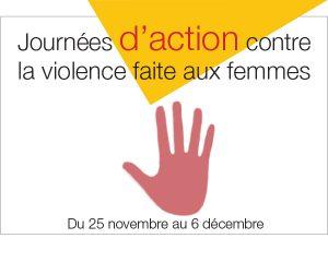 Logo de la Journée d'action contre la violence faite aux femmes.