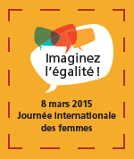 Logo pour le 8 mars journée internationale des femmes édition 2015.