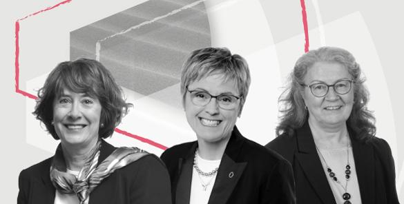 Louise Provencher, Claire Deschênes et France Légaré.