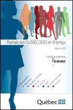 Page couverture du Portrait des Québécoises en 8 temps