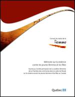 Page couverture du mémoire.