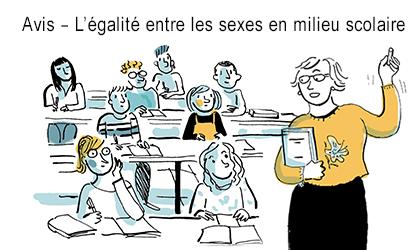 Avis – L'égalité entre les sexes en milieu scolaire