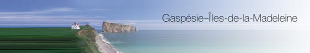 Bandeau région «Gaspésie-îles-de-la-Madeleine »