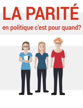 Illustration de trois chercheuses du Conseil du statut de la femme.