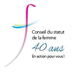 Logo Conseil du statut de la femme - 40 ans.