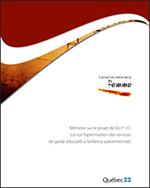 Page couverture - Mémoire projet de loi 27