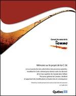 Page couverture du mémoire C-36.