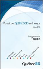 Page couverture du Portrait des Québécoises en 8 temps – Édition 2013.