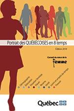 Page couverture du Portrait des Québécoises en 8 temps -Édition 2014