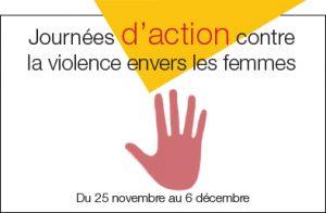 Logo Journées d'action contre la violence.